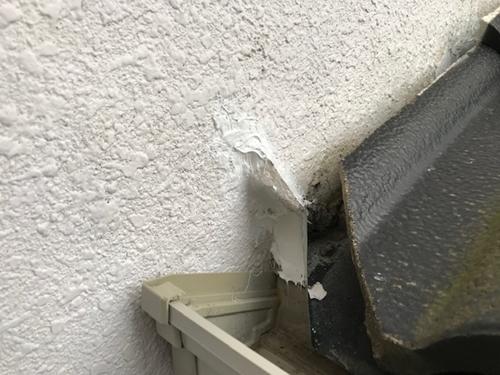 外壁不具合補修後