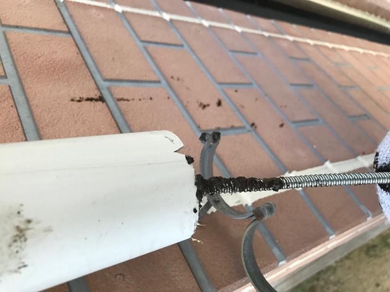 雨樋つまり補修