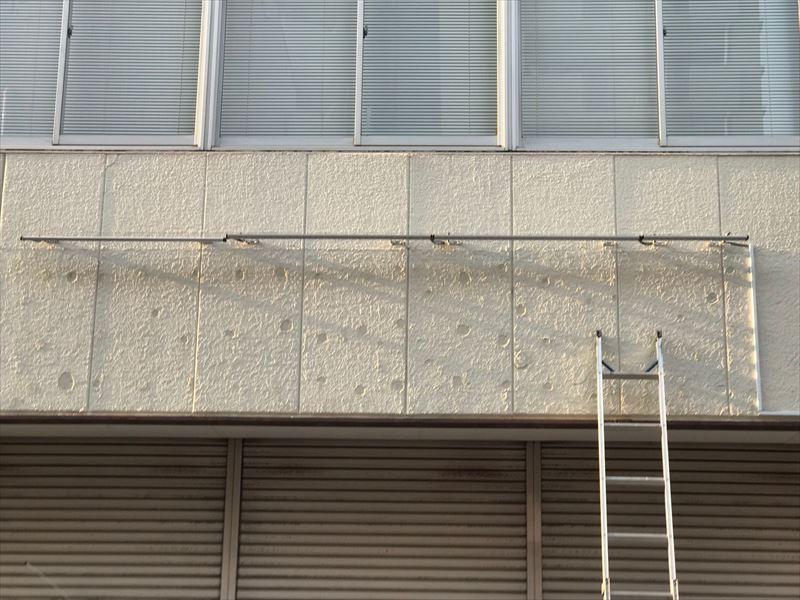 下処理剤を塗布した外壁