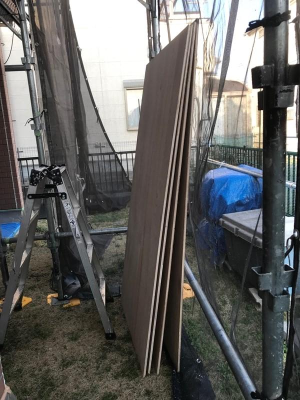 FRP防水用コンパネ合板4枚準備
