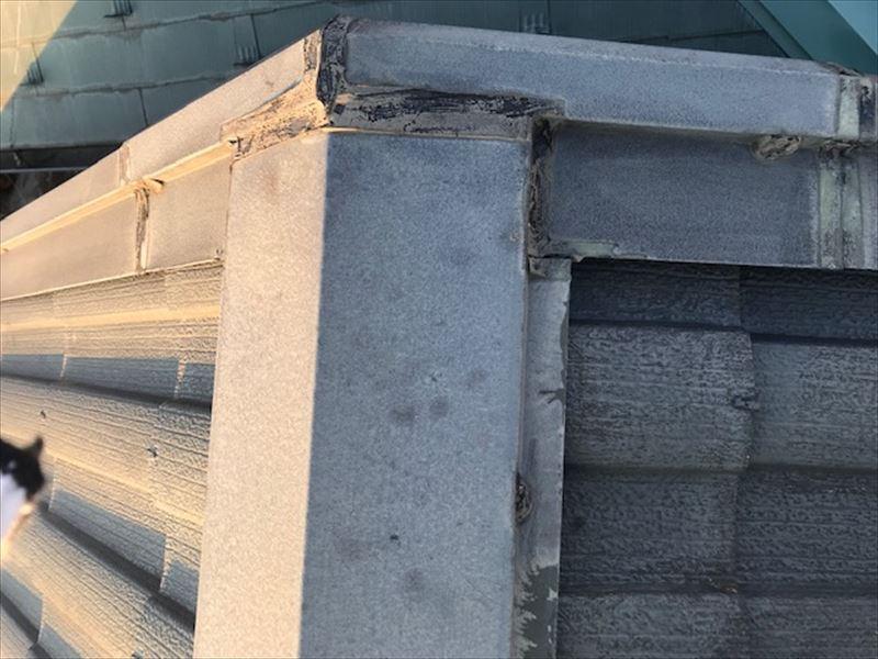 屋根トタン部分シール