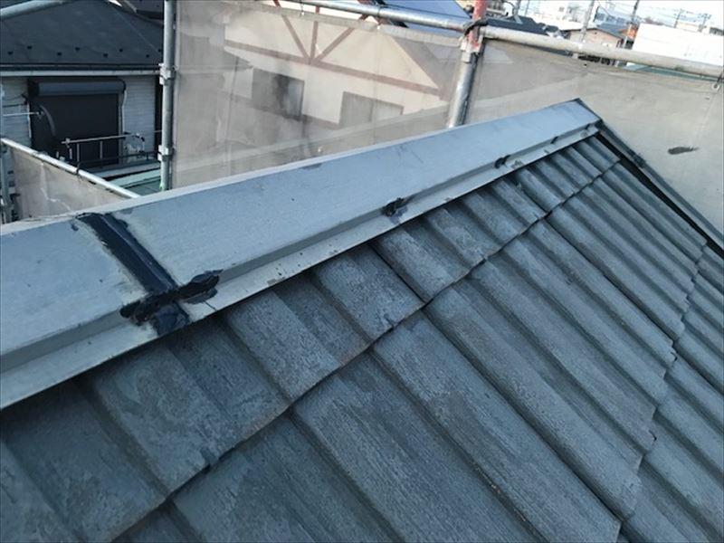屋根棟包み補修