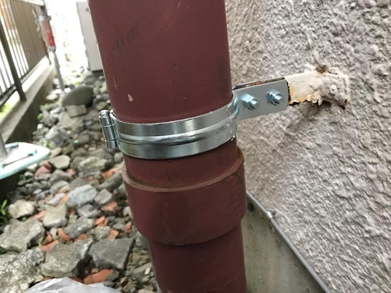 トイレ排気管補修後