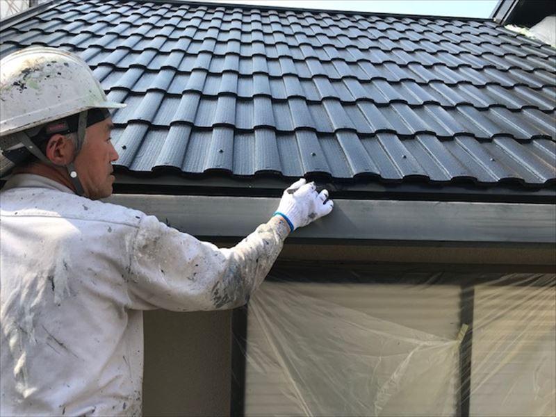 横樋塗装2液シリコン塗料