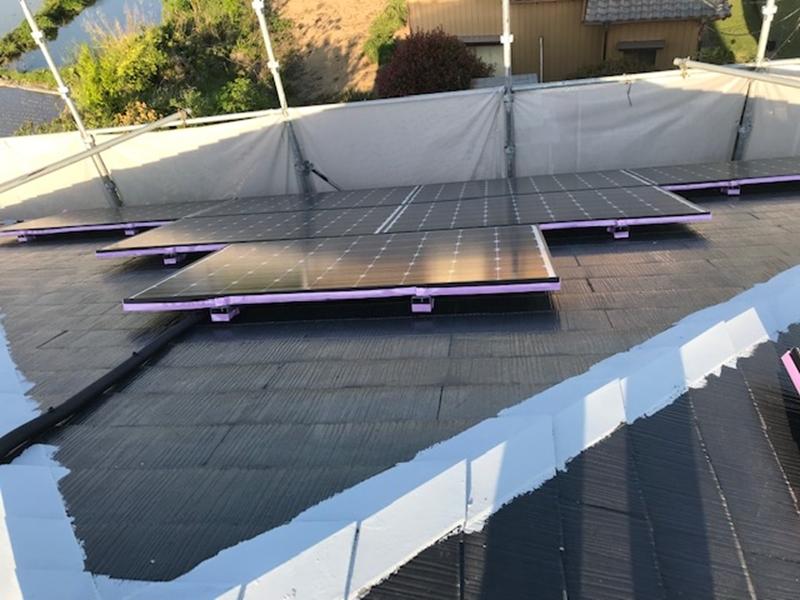 屋根塗装の為養生