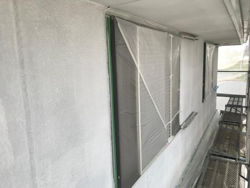 2階窓の養生