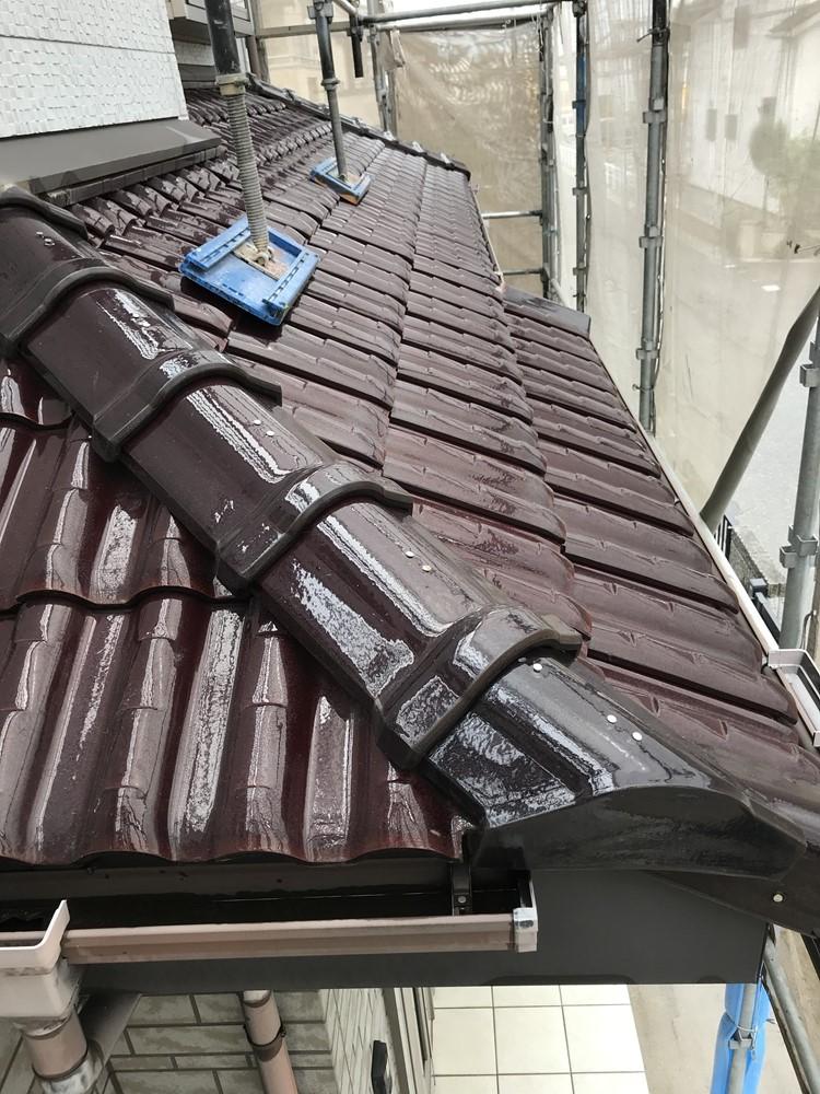下屋根高圧洗浄