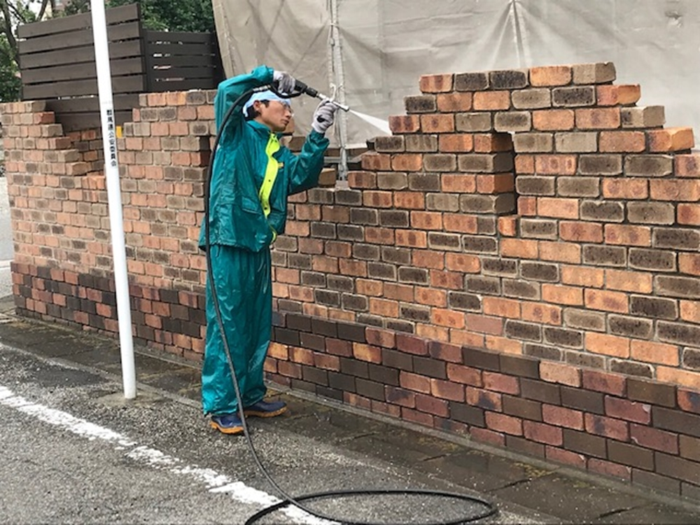 門塀廻りの高圧洗浄