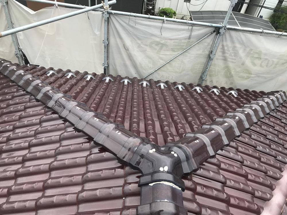 屋根瓦補修シーリング