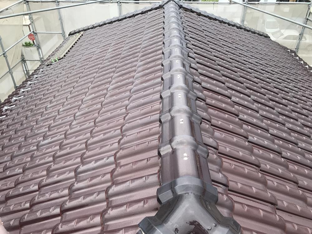 屋根瓦棟補修
