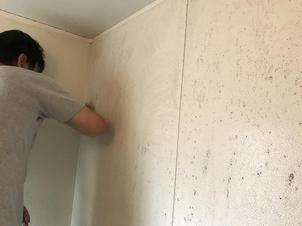 伊奈町で劣化したユニットバスの天井と壁の防水塗装を行いました