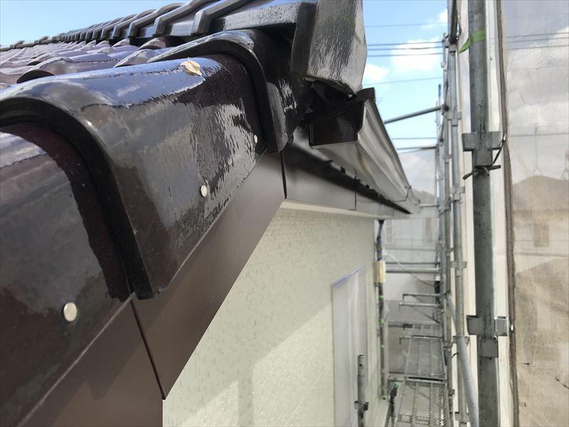 上尾市の破風板上塗り完了