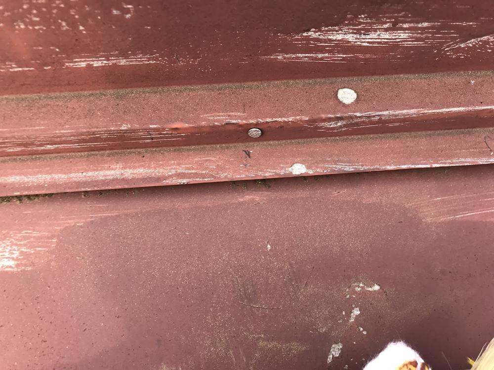 トタン屋根止め釘補修
