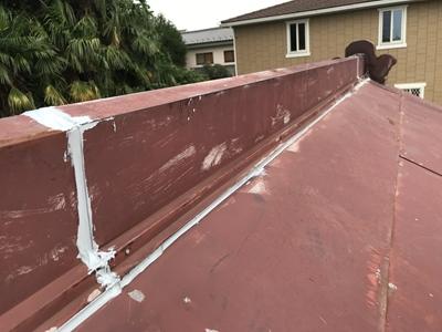 トタン屋根補修