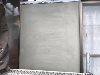 漆喰壁補修後