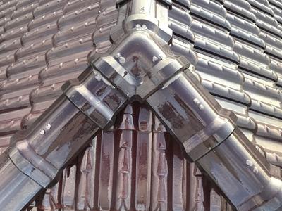 瓦の留め釘補修