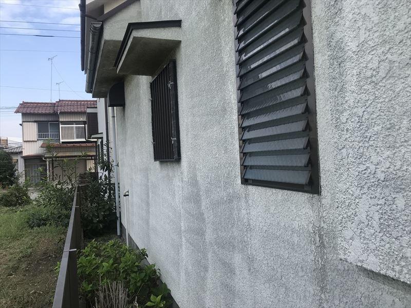 外壁北側の劣化
