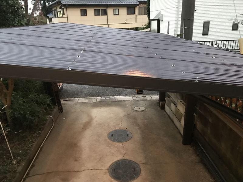 上尾市車庫屋根交換完了