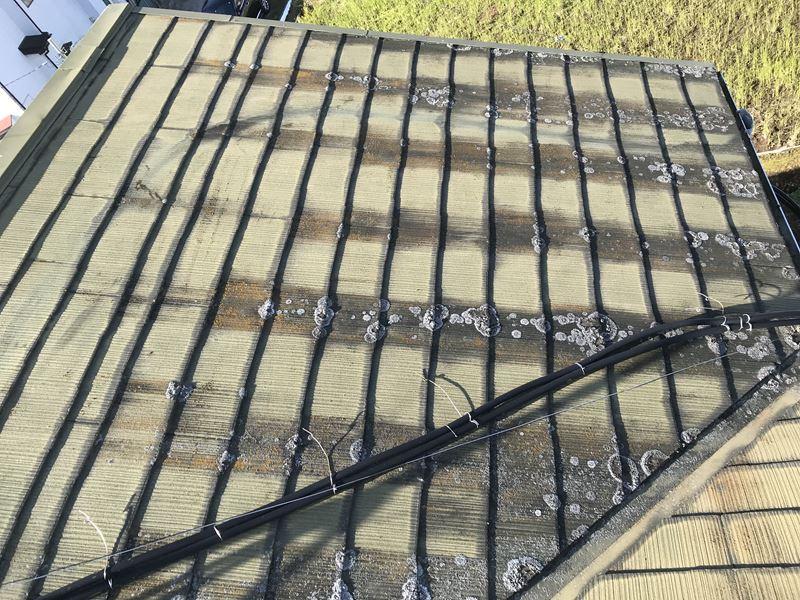 春日部市のスレート屋根の点検