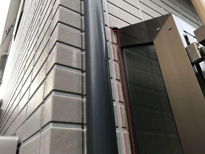 さいたま市岩槻区外壁塗装前点検サッシ廻りシーリング劣化
