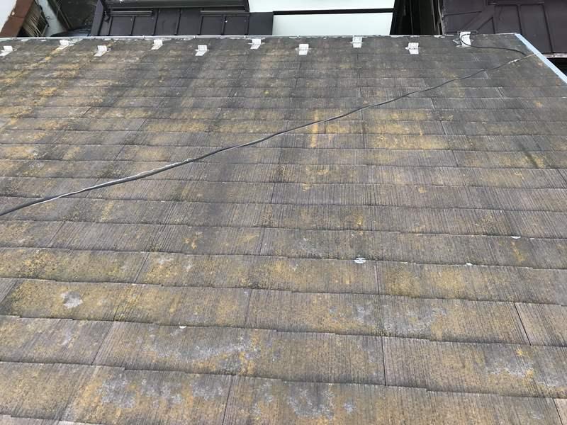 さいたま市岩槻区 スレート屋根の劣化状態北面東側