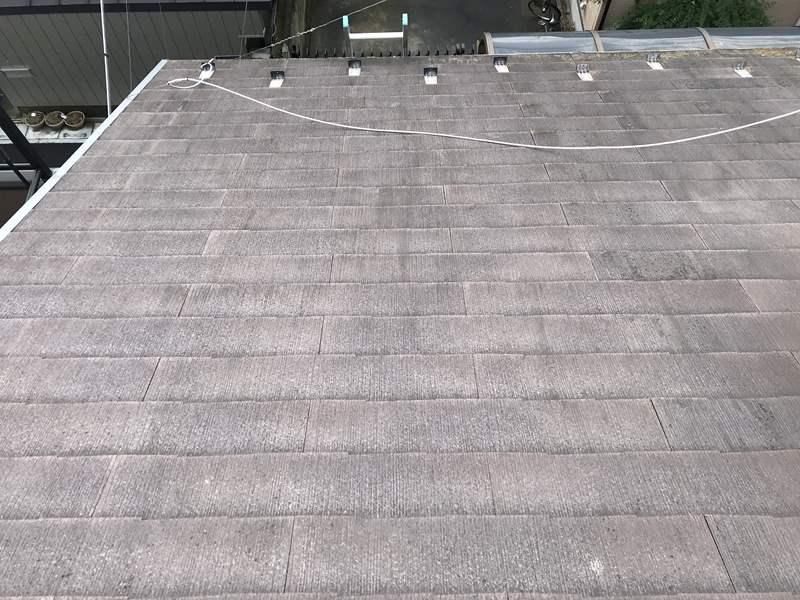 さいたま市岩槻区 スレート屋根の劣化状態南面