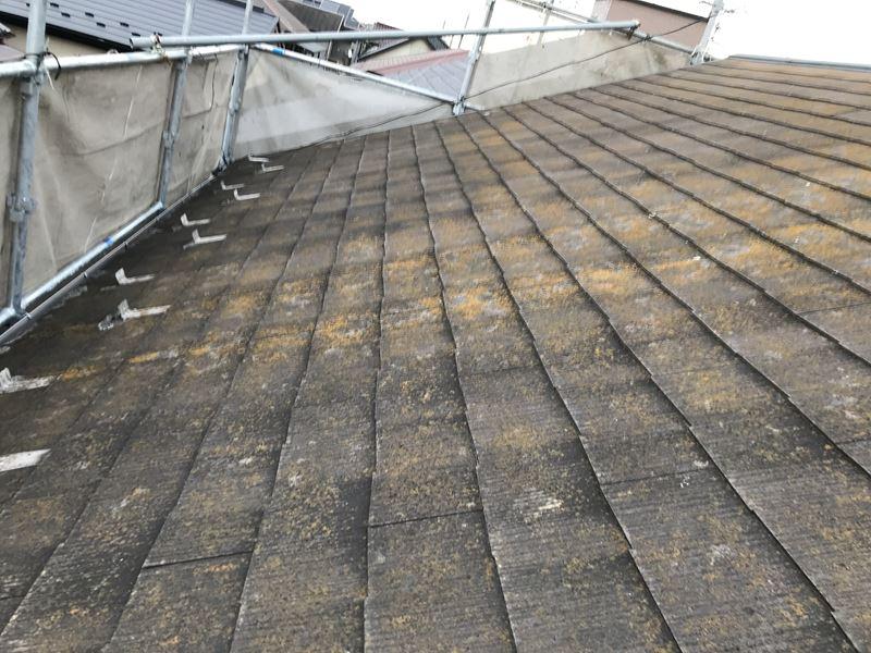 さいたま市岩槻区屋根塗装の高圧洗浄前