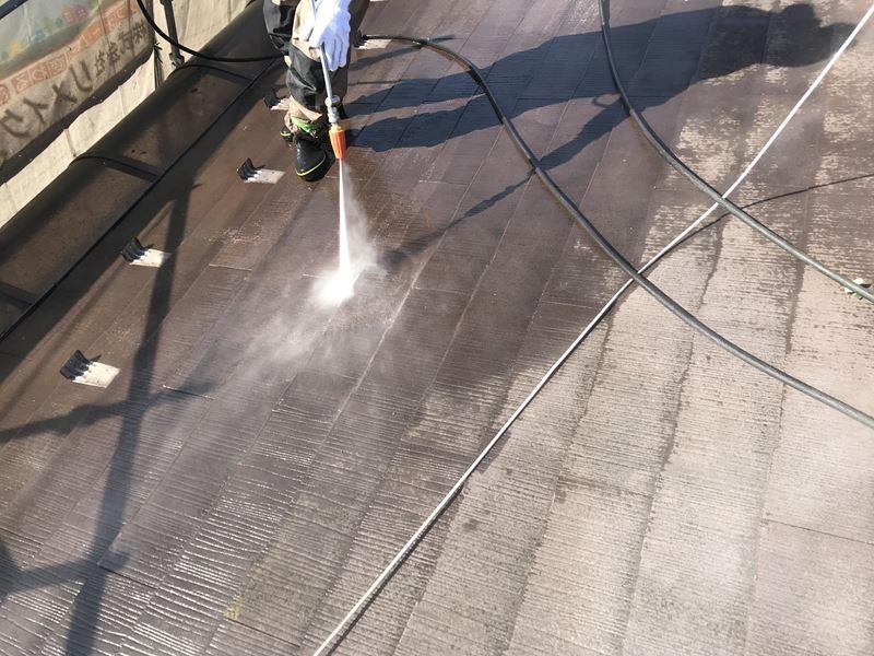 さいたま市岩槻区屋根塗装前高圧洗浄