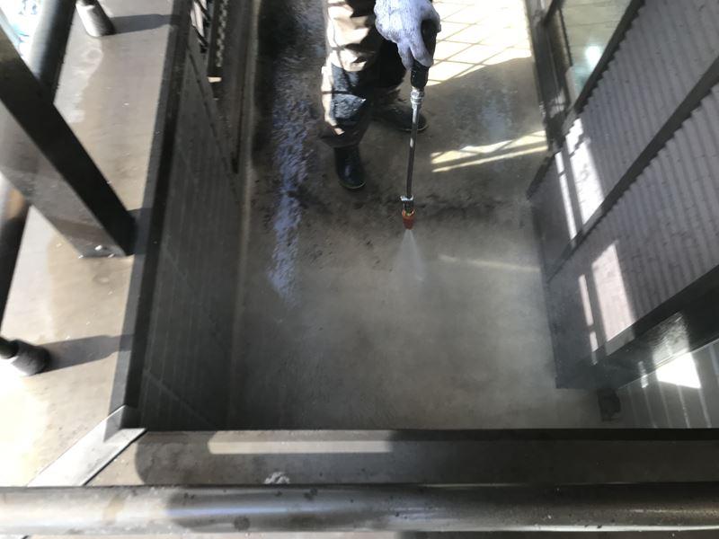 さいたま市岩槻区防水塗装前の高圧洗浄
