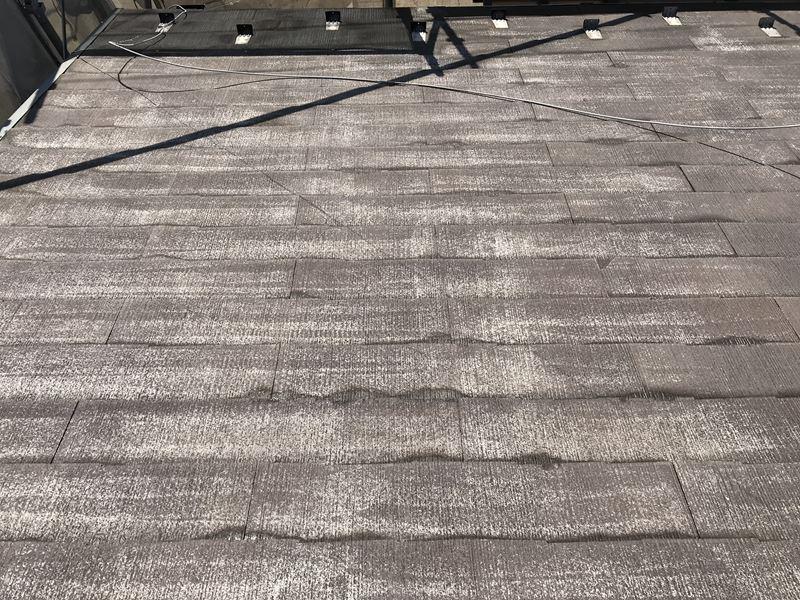 いたま市岩槻区屋根塗装の高圧洗浄後