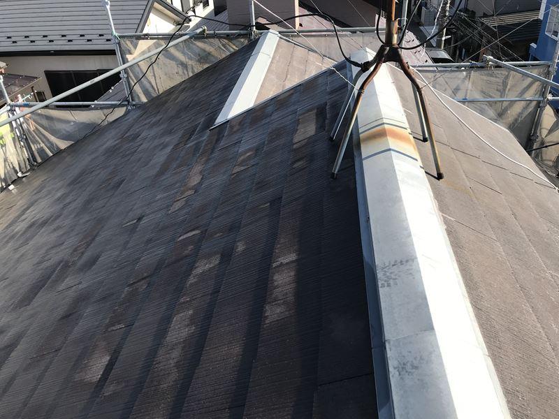 さいたま市岩槻区屋根塗装の高圧洗浄後