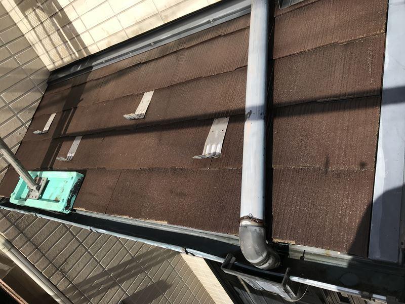 さいたま市岩槻区屋根塗装前下屋根高圧洗浄