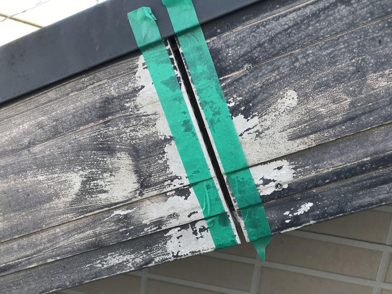 さいたま市岩槻区塗装前に破風板の不具合補修