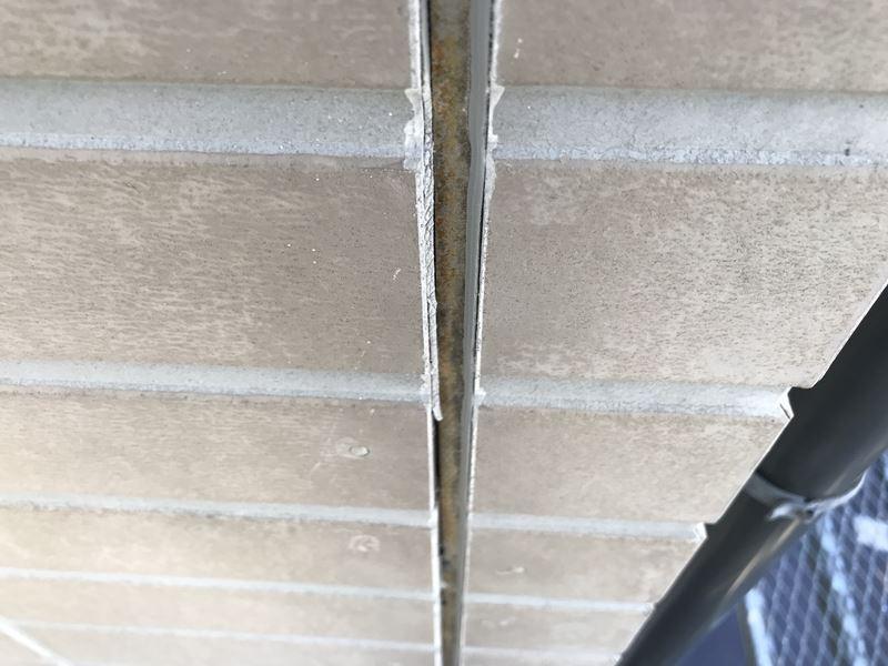 さいたま市岩槻区サイディング目地シーリング材劣化の為剥落