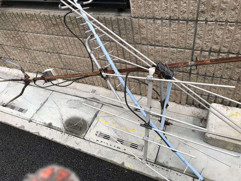 さいたま市岩槻区不用アンテナ取り外し