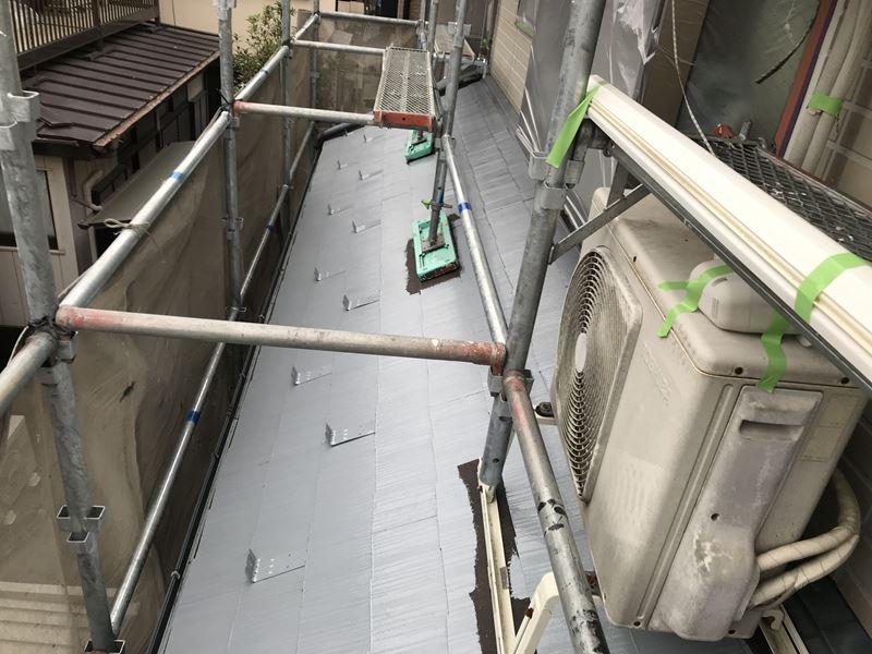 岩槻区スレート屋根下屋根下塗り
