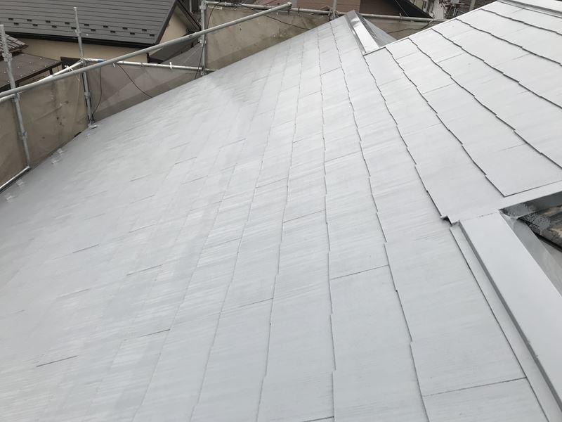 岩槻区スレート屋根北側下塗り