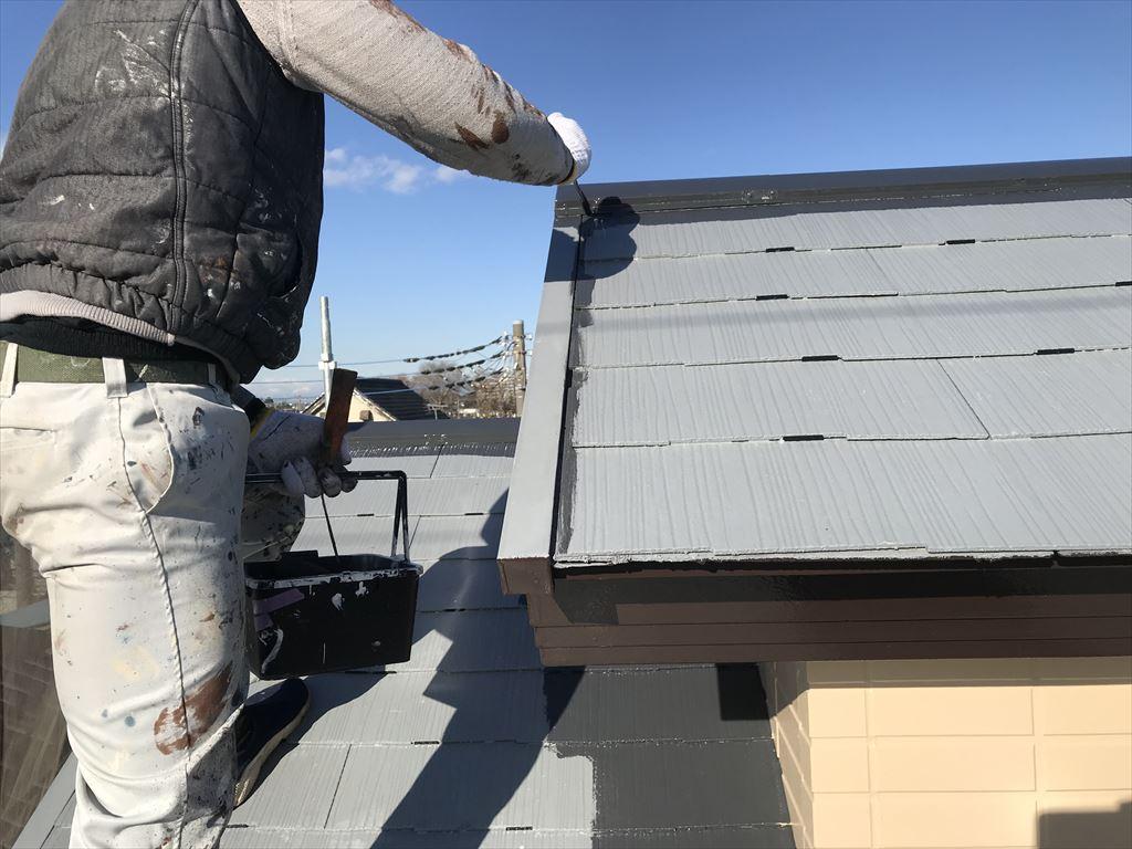 さいたま市岩槻区で「スーパシャネツサーモSi」を2階ロフト屋根に塗布