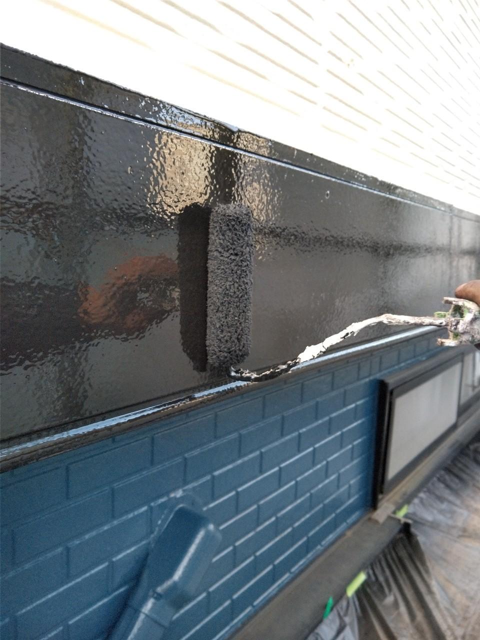伊奈町賃貸一軒家外壁塗装付帯部胴差し(化粧帯)塗装