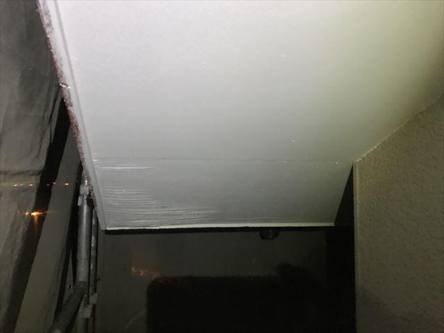 白岡市の外壁塗装工事軒天塗装に不安
