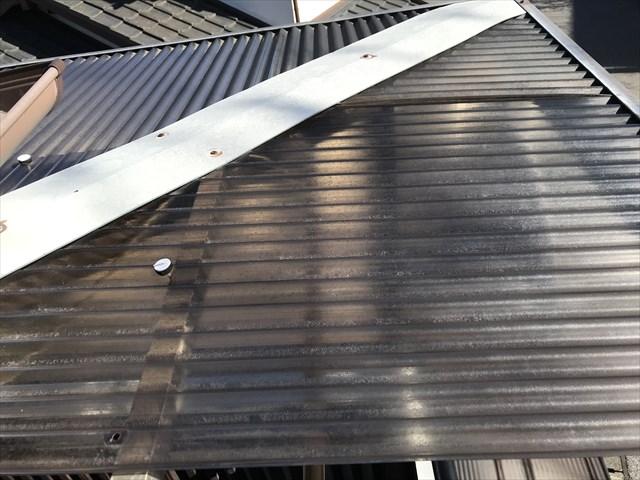 蓮田市波板交換のベランダ屋根コーナー部分