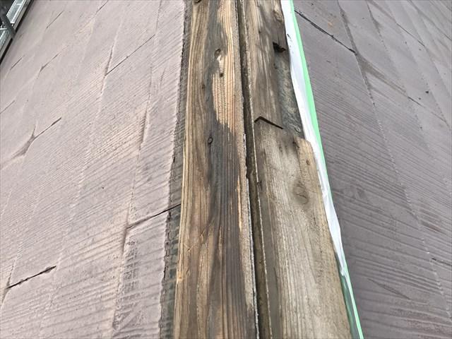 古い貫板・撤去前