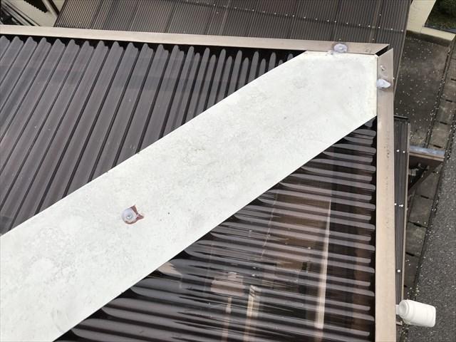 蓮田市ベランダ屋根新規波板設置完了