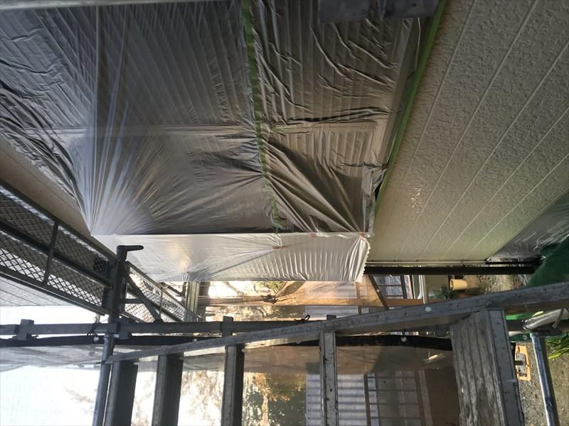 伊奈町外壁塗装の為の雨戸養生