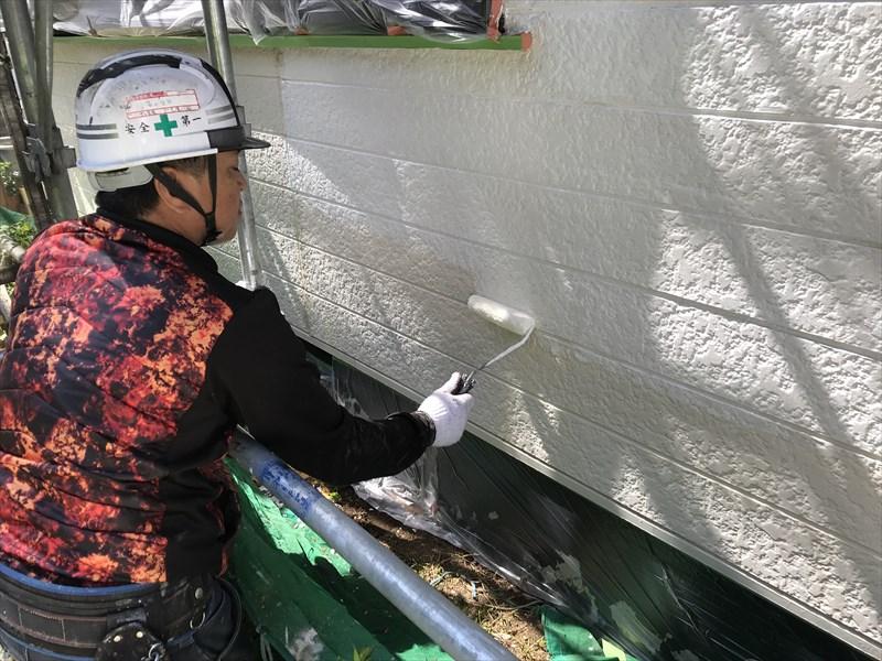 外壁サイディング下塗り