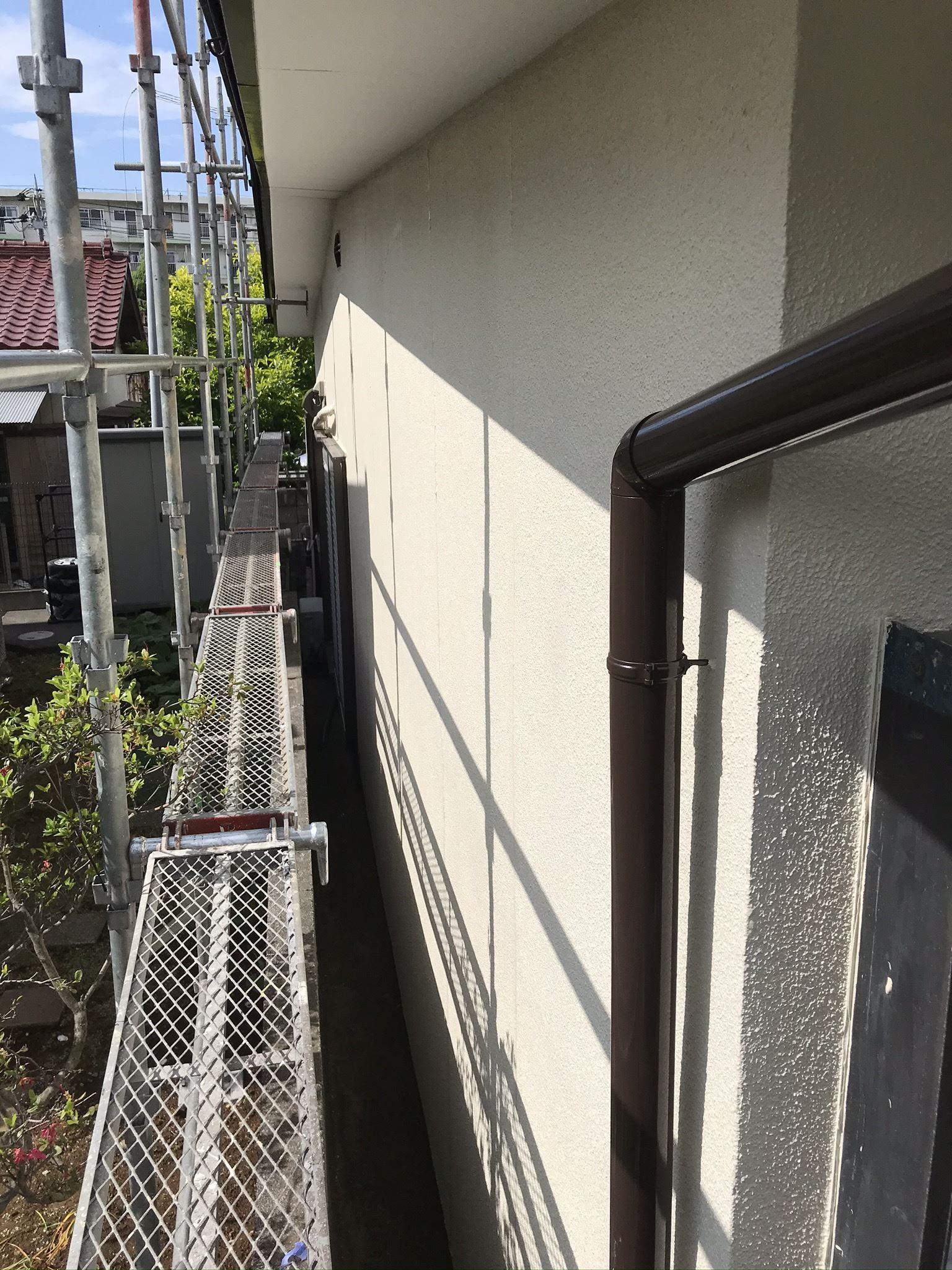 上尾市の外壁塗装完了2F西側