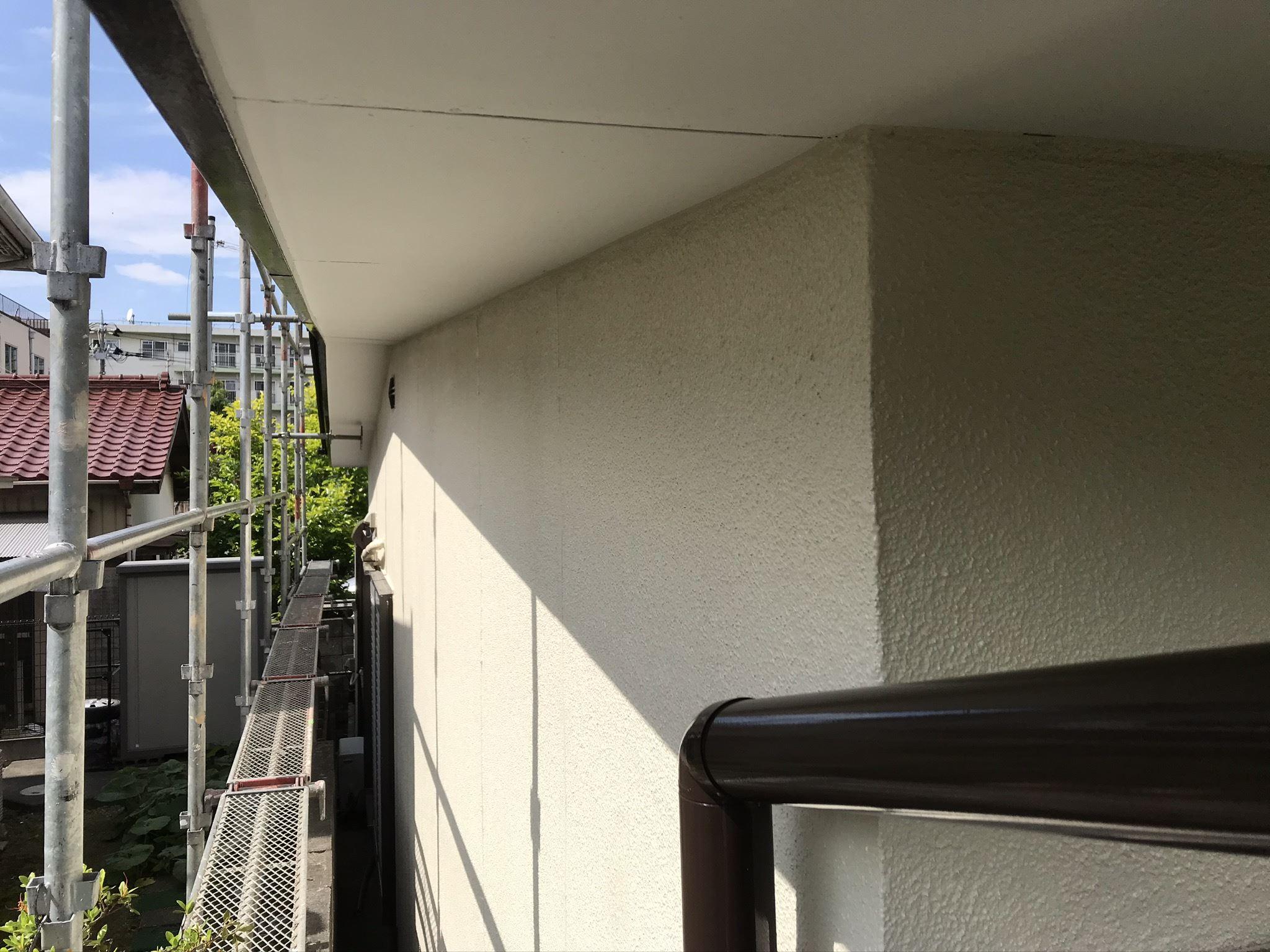 上尾市の外壁塗装完了1F西側