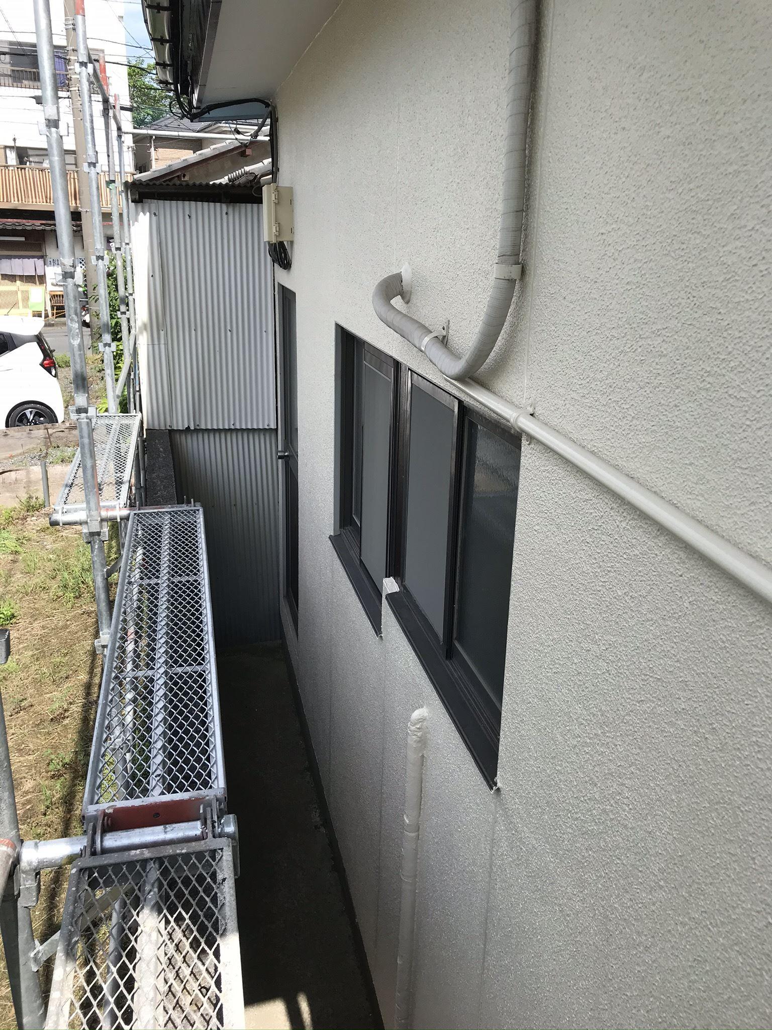 上尾市の外壁塗装完了1F北側