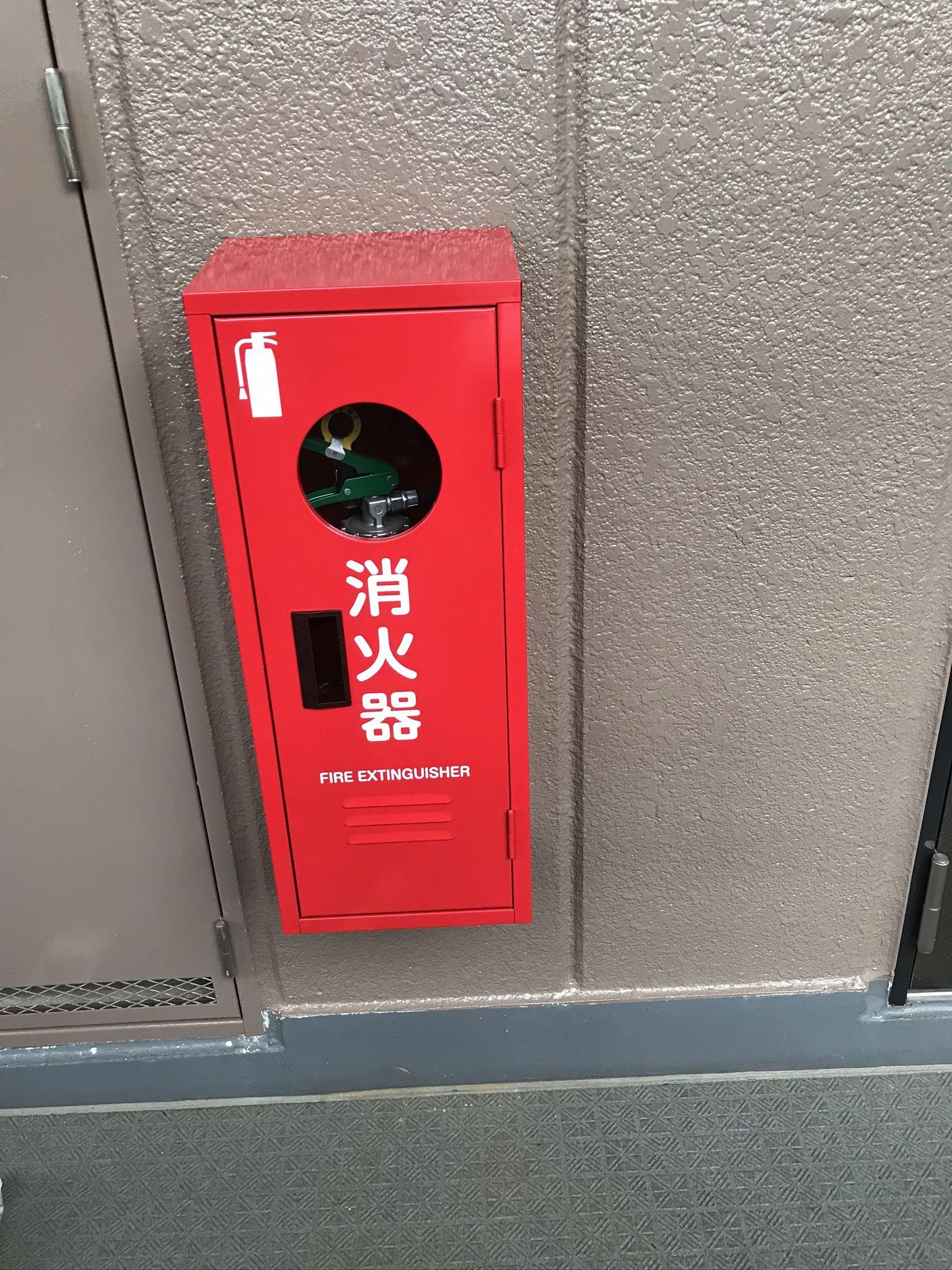 さいたま市北区のマンション外壁塗装時に1階の消火器BOX交換