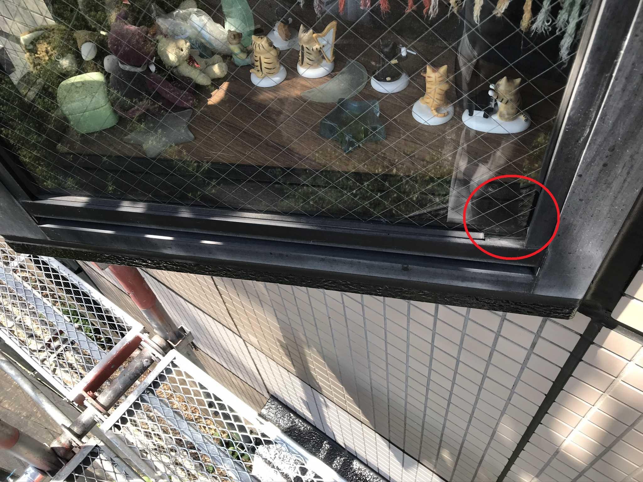 さいたま市北区マンション築20年で劣化した窓枠止めゴムパッキン